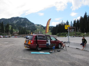 Breakpoint at the top of Stevens Pass.