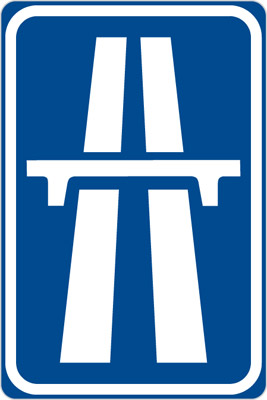 Czech Highway Sign