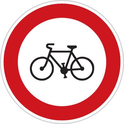 Czech No Bikes Sign