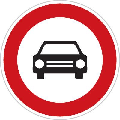 Czech No Vehicles Sign