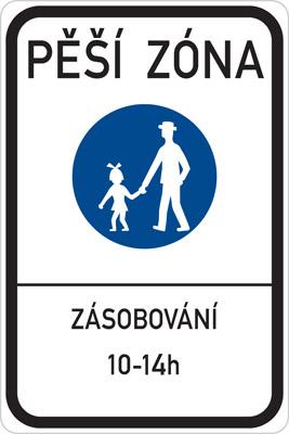 Czech Pedestrian Zone Sign