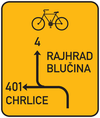 Czech Cycling Route Sign