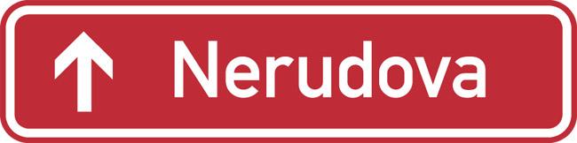 Czech Street Sign