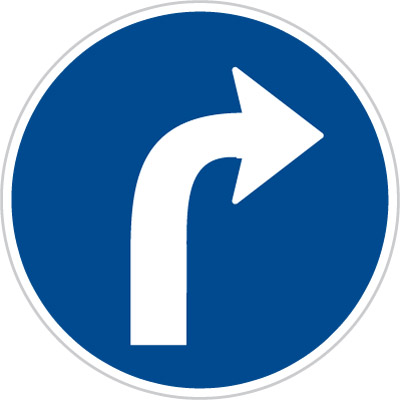 Czech Turn Right Sign