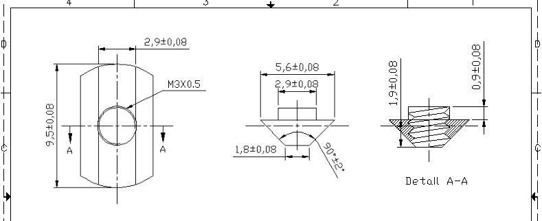 MakerBeam 10mm t-slot nut