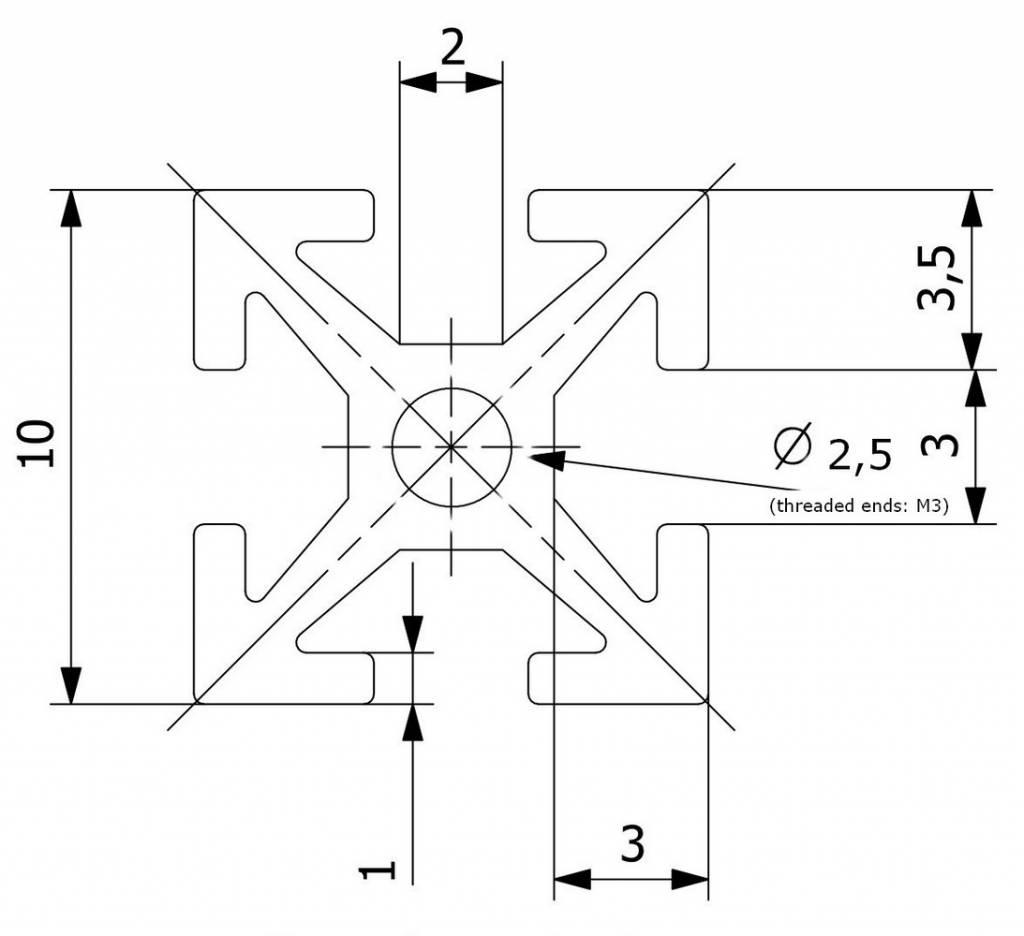 MakerBeam 10mm profile